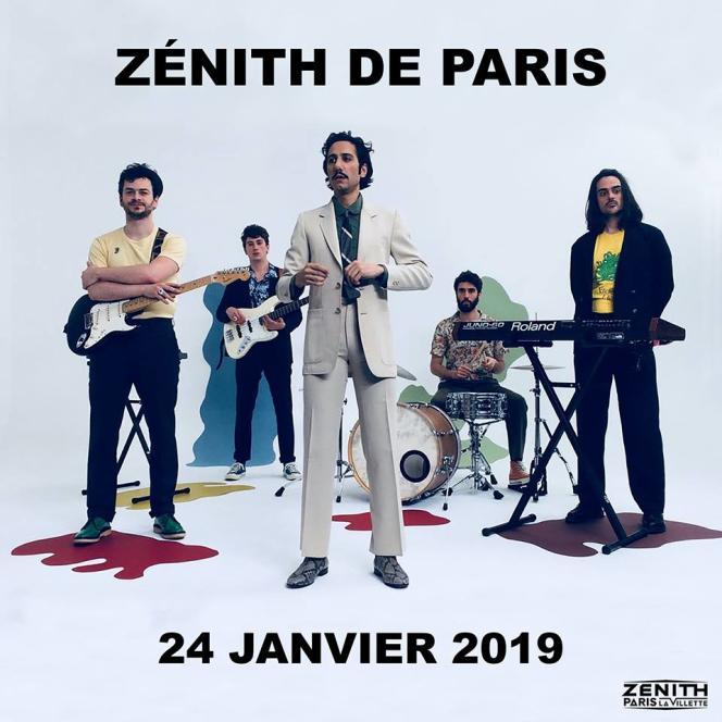 Pour l'une de leurs dernières dates avant une pause, le groupe Feu! Chatterton se produira pour la 1ère fois au Zénith de Paris, le 24 janvier.