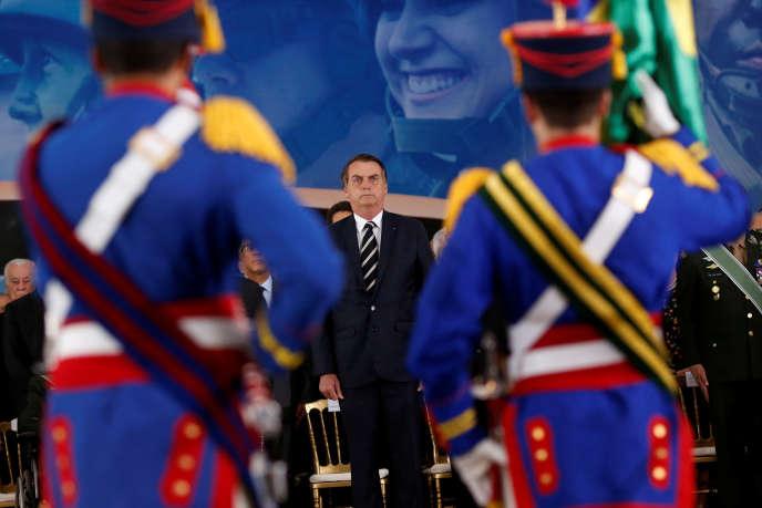 Jair Bolsonaro, lors d'une cérémonie à Brasilia, le 11 janvier.