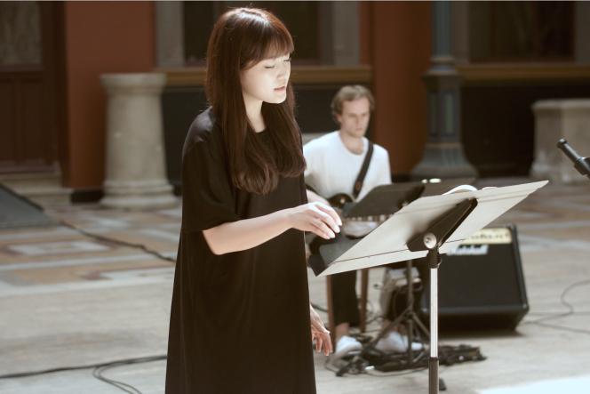 La soprano Youmi Kim (capture écran de la vidéo).