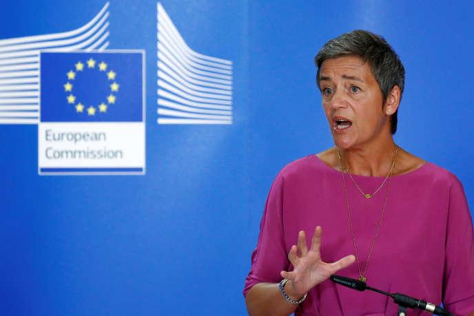 La commissaire européenne à la concurrence, Margrethe Vestager, à Bruxelles, en juillet 2018.
