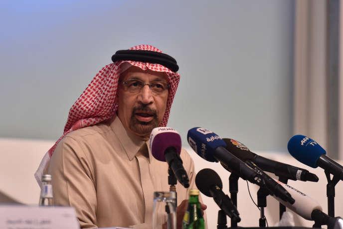 Le ministre saoudien de l'énergie, Khaled Al-Faleh, à Ryad, le 9 janvier.
