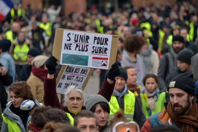 Manifestation de« gilets jaunes» à Toulouse, samedi 12 janvier.