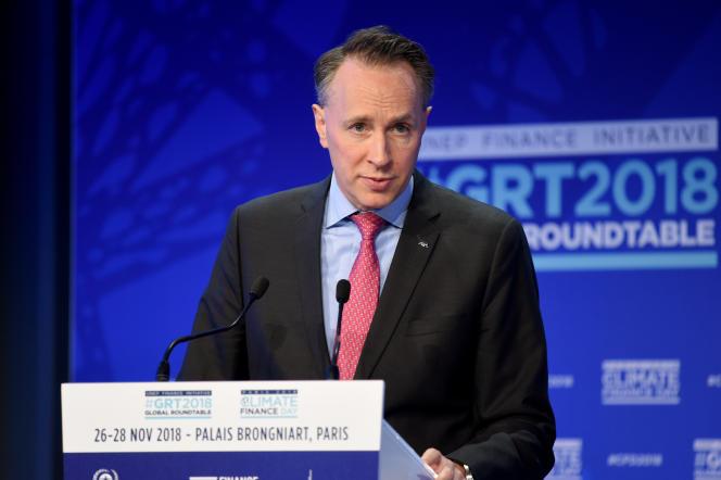 Thomas Buberl, directeur général d'Axa, à Paris, le 26 novembre 2018