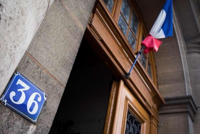 Le « 36 quai des Orfèvres», ancien siège de la police judiciaire de Paris, où deux policiersauraient violé une Canadienne, le 23 avril 2014.