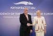 Le président de la Commission européenne, Jean-Claude Juncker, et la première ministre roumaine, Viorica Dancila, à Bucarest, le 10 janvier.