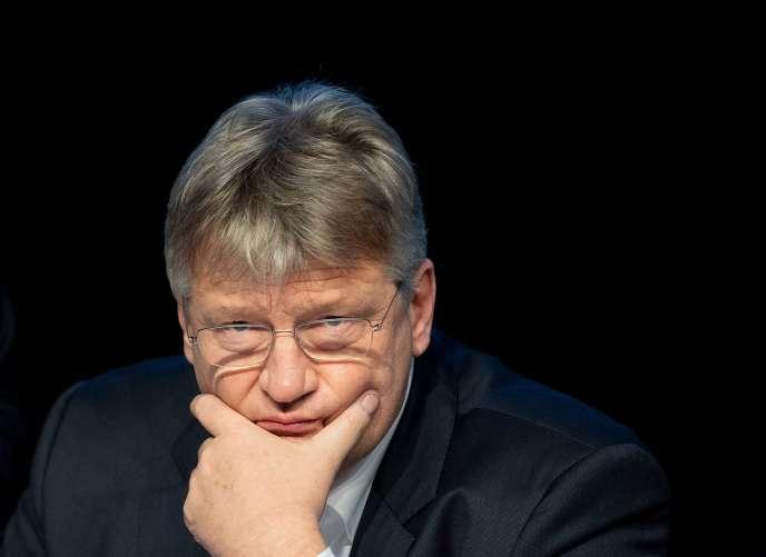 Jörg Meuthen, tête de liste de l'AfD pour les européennes, le 13 janvier à Riesa (Saxe).