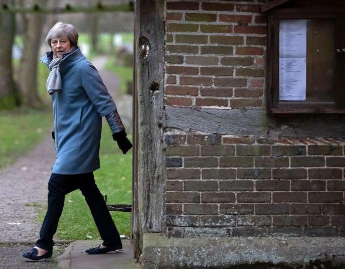 La première ministre britannique Theresa May, le 13 janvier à Londres.