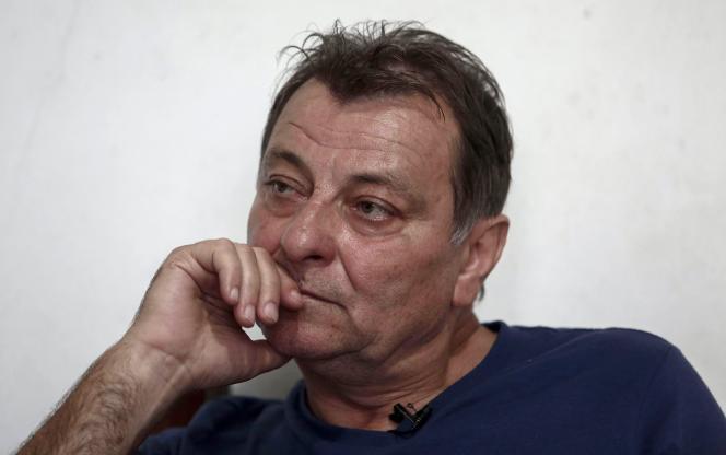 Cesare Battisti en octobre 2017 à Cananeia, au Brésil.