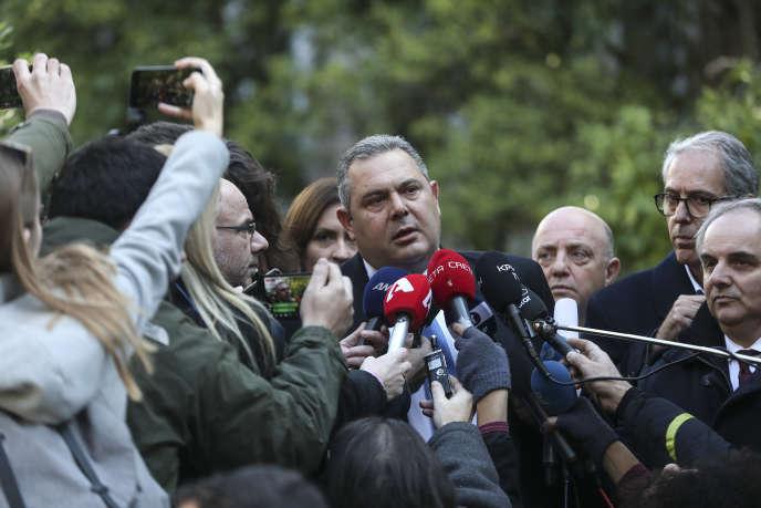 Panos Kammenos a annoncé sa démission dimanche à Athènes.