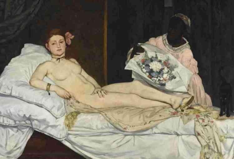 En une trentaine d'années, «la représentation des Noirs» est devenue un objet d'histoire très actif des deux côtés de l'Atlantique, et les travaux liés aux «black studies» se multiplient. Cette exposition tente d'explorer ce phénomène à partir de l'iconographie foisonnante, tous médias confondus, qu'il a révélée. Légende: «Olympia» (1863-1865), d'Edouard Manet (1832-1883), huile sur toile.