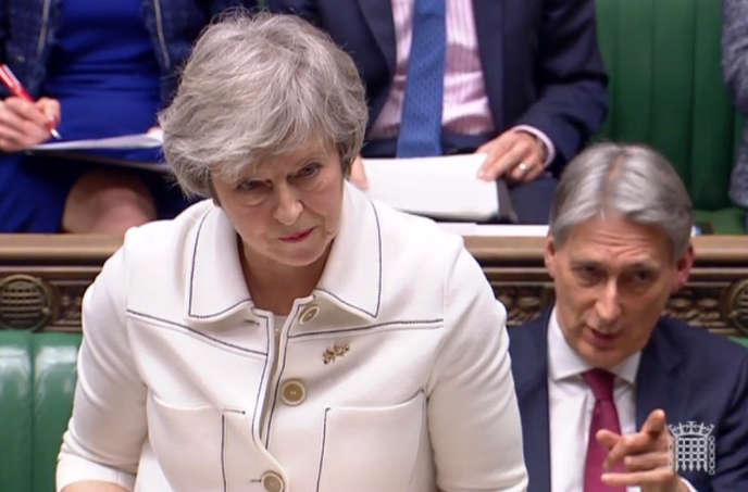 La première ministre britannique, Theresa May, lors d'une déclaration devant la Chambre des communes lundi 14 janvier.