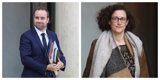 Les ministres Sébastien Lecornu et Emmanuelle Wargon.