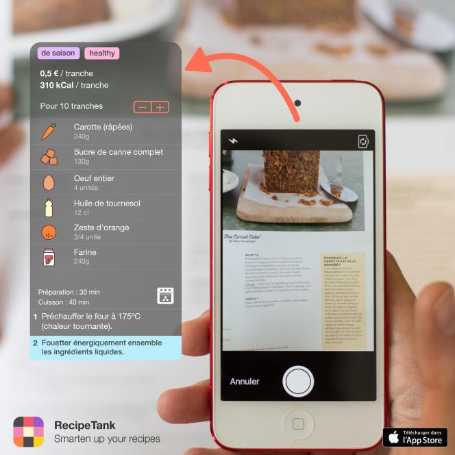 L'appli RecipeTank, ce sont près de 300 recettes de base à compléter des siennes en un clin d'oeil.