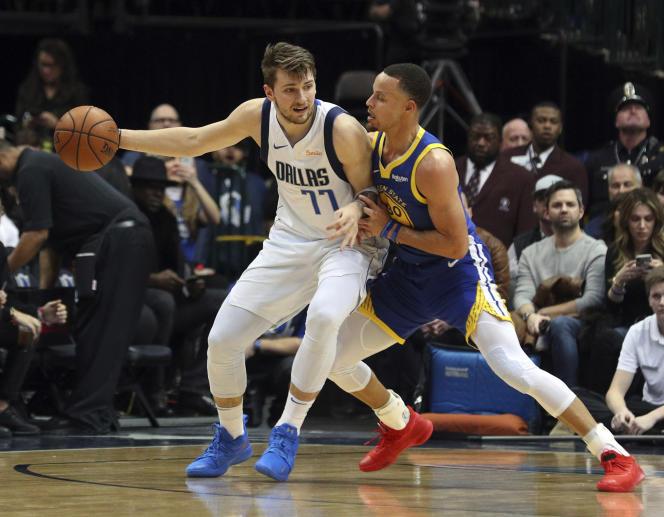 Le Slovène Luka Doncic, face à Stephen Curry, incarne le virage international de la NBA.
