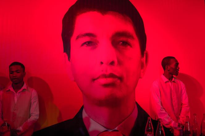 Au siège de campagne d'Andry Rajoelina, à Antananarivo, le 27décembre 2018.