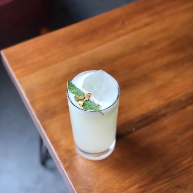 Yogur de Fréquence : orgeat, petit lait, citron et eau.