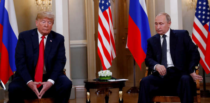 Les présidents Trump et Poutine à Helsinki, en Finlande, le 16 juillet 2018.