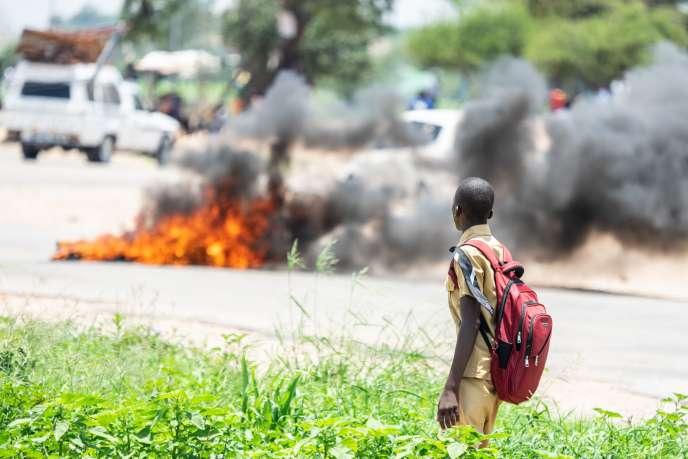 Les manifestations au Zimbabwe ont débuté lundi 14 janvier.