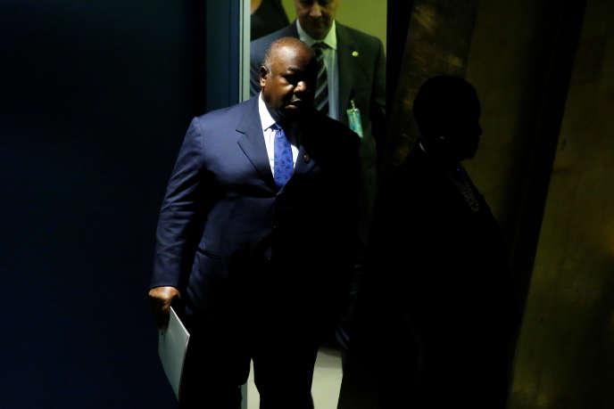 Le président gabonais, Ali Bongo Ondimba, à l'ONU, à New York, le 5juin 2017.