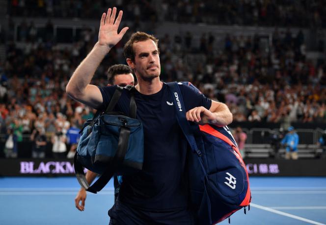 Andy Murray après sa défaite face àRoberto Bautista au premier tour de l'Open d'Australie, lundi 14 janvier.