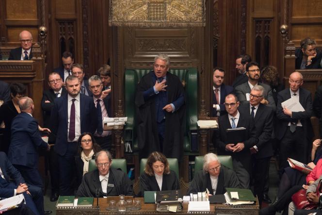 John Bercow, le président de la Chambre des Communes, prend sa fonction très à cœur, à Londres, le 9 janvier.