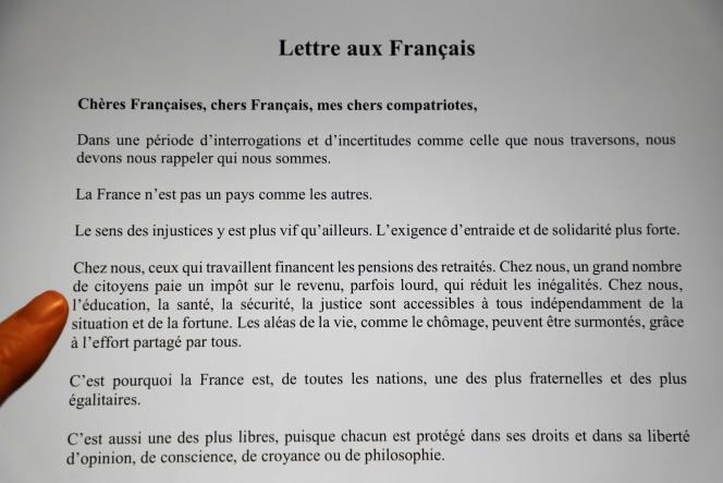 Emmanuel Macron a envoyé sa «lettre aux Français» pour cadrer les enjeux du «grand débat national», qui débutera le 15 janvier.