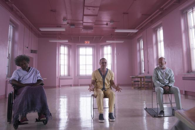 Samuel L. Jackson, James McAvoy et Bruce Willis dans« Glass», le dernier film du réalisateur américain M.Night Shyamalan.