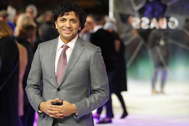 Le réalisateur M. Night Shyamalan lors de la projection en avant-première européenne de«Glass» à Londres, le 9 janvier 2019.