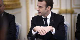 French President Emmanuel Macron during a Gouvernment Seminar 'Seminaire Gouvernemental' at Elysee Palace in Paris, on January 9, 2019. Photo by ELIOT BLONDET/ABACAPRESS.COM
