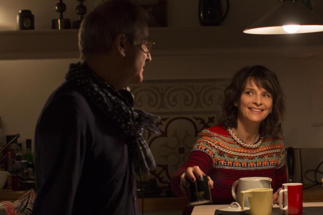 Olivier Assayas et Juliette Binoche sur le tournage de«Doubles vies».