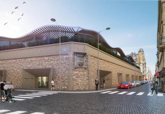 Le projet d'aménagement des réservoirs de Passy en chai subaquatique, dans le 16e arrondissement de Paris (porteur : Winereef ; architecte : Miguel Montouro et associés).