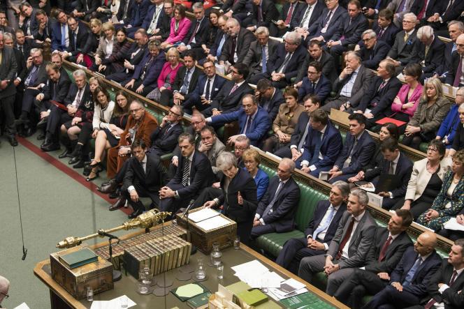 Theresa May devant la Chambre des communes, les 15 janvier.
