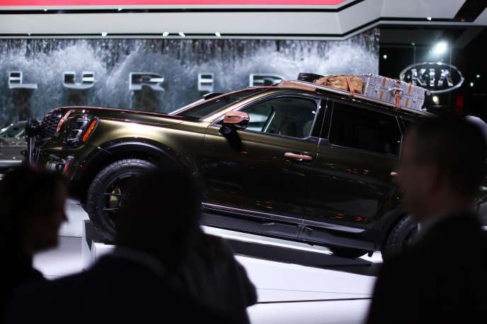 Kia's Telluride SUV, showcased at the Detroit auto show on Jan. 14.