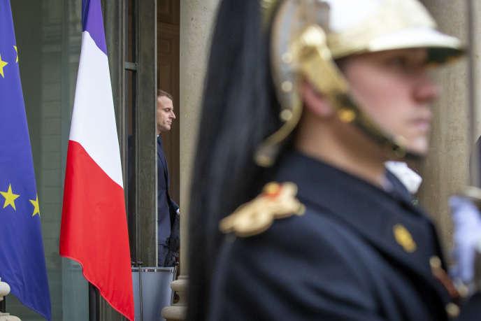 Emmanuel Macron, à l'Elysée, le 12 novembre.