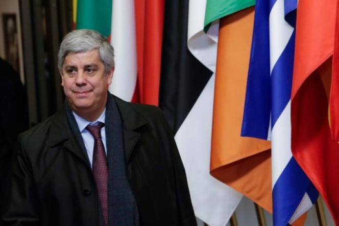 Mario Centeno, ministre des finances portugais et président de l'Eurogroupe, le 14 décembre 2018 à Bruxelles.
