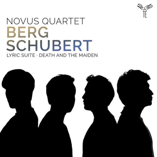Pochette de l'album« Berg– Schubert», du Novus Quartet.