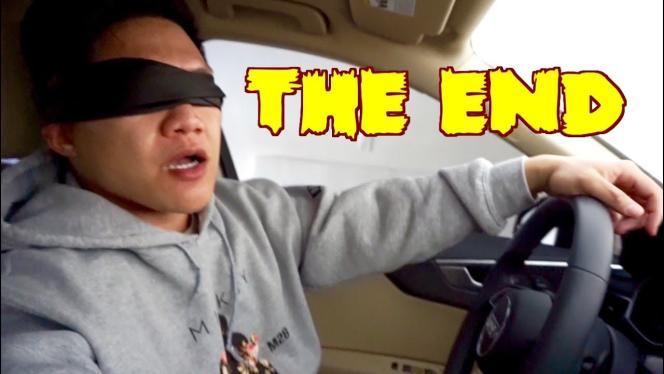Exemple de vidéo du« Bird box challenge» sur YouTube.
