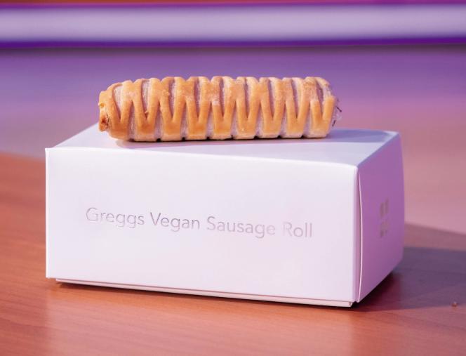 Le feuilleté à la saucisse végane de Greggs.