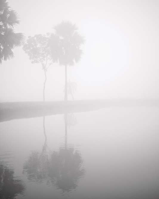 Lac creusé par les zamindar, Kachua, district de Bagerhat.