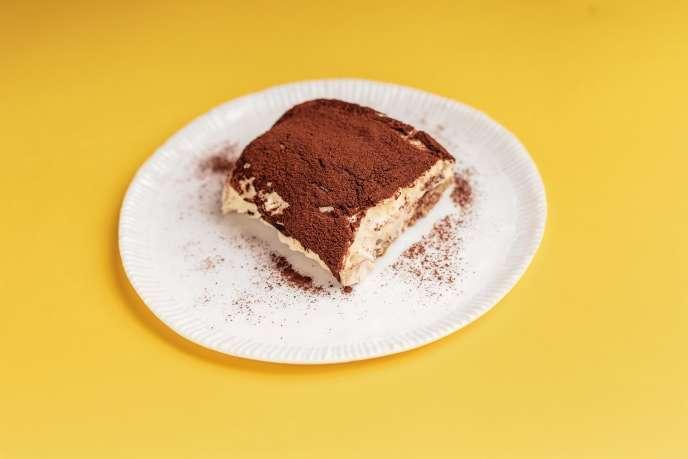 Le tiramisu : une crème de mascarpone, des biscuits, du café.