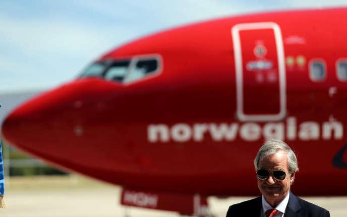 Bjorn Kjos, patron de la compagnie norvégienne à bas coût Norwegian, à Buenos Aires, en mars 2018.