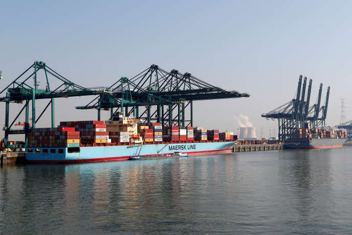 The port of Antwerp, Belgium, in July 2018.