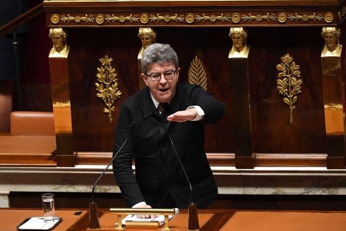 Le député des Bouches-du-Rhône et leader de LFI, Jean-Luc Mélenchon, le 20 décembre 2018, à l'Assemblée nationale.