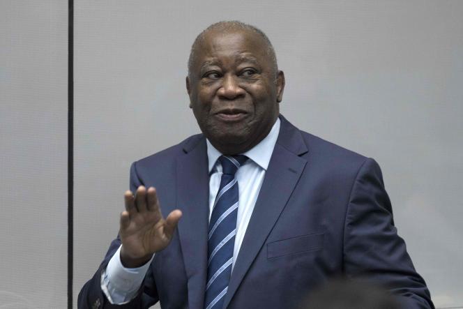 Laurent Gbagbo, l'ancien président ivoirien, à la Cour pénale internationale de La Haye, le 15 janvier.