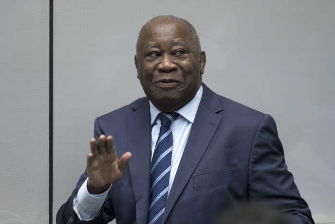 L'ancien président ivoirien, Laurent Gbagbo, à la Cour pénale internationale de La Haye, le 15 janvier 2019.