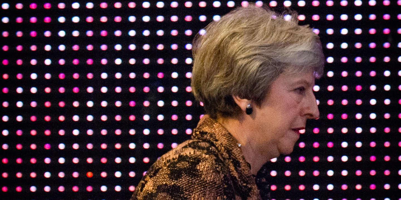 Conference annuelle du CBI, principal syndicat du patronat du Royaume-Uni. Discours de Theresa May, premier ministre du Royaume-uni. *** Local Caption *** Confederation of British Industry