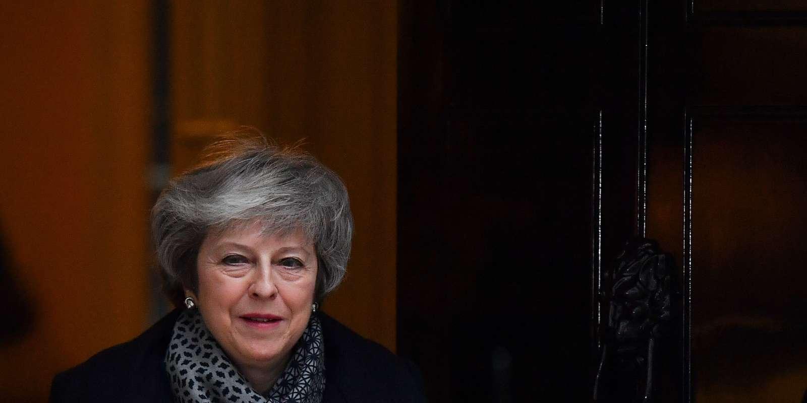 La première ministre britannique, Theresa May, à London le 16 janvier.