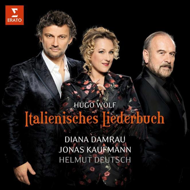 Pochette de l'album«Italienisches Liederbuch» d'Hugo Wolf avecJonas Kaufmann (ténor), Diana Damrau (soprano), Helmut Deutsch (piano).