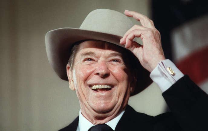 Le président américain (1980-1988) Ronald Reagan à Washington, en 1987.