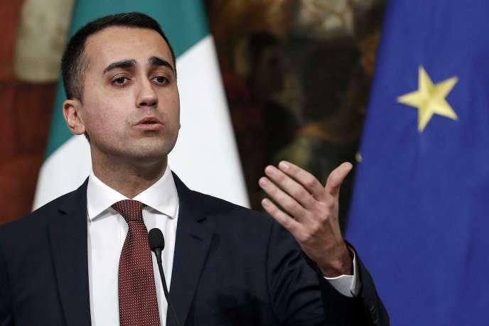 Le vice-président du conseil italien, Luigi Di Maio, lors d'une conférence de presse le 17 janvier 2019.